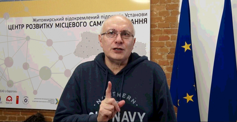 Ганапольський у Житомирі: розмови з чиновниками та майстер-класи для журналістів