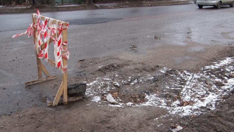 Ями на дорогах після ремонтів «Житомирводоканалу» залатають за сприятливих погодних умов