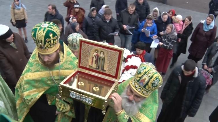 Мощі святих Петра і Февронії привезли до Свято-Хрестовоздвиженського кафедрального собору