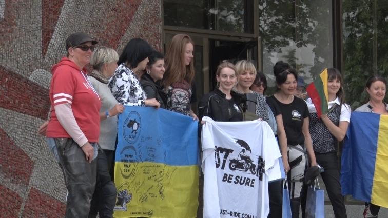 До Житомира завітали учасниці Всесвітньої мотоциклетної жіночої естафети