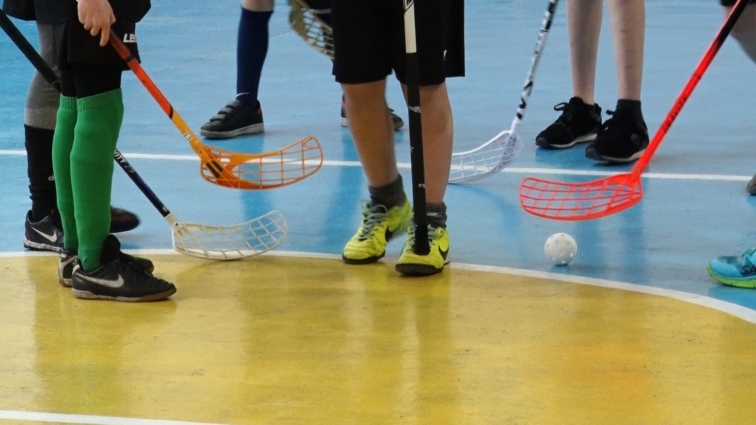 У Житомирській гімназії №23 кияни презентували гру «флорбол»