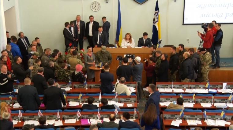 Активісти ГО ВПК Айдар грали на публіку перед представниками ЗМІ