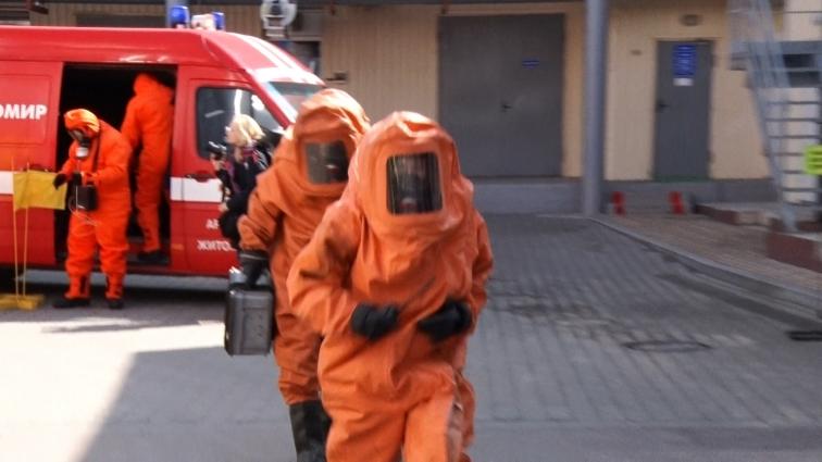 Рятувальники та працівники маслозаводу відпрацьовували аварійну ситуацію