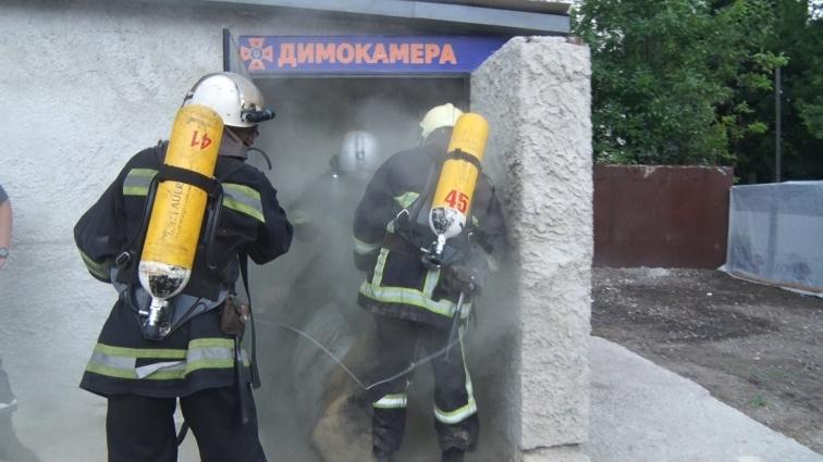 У Житомирі визначали найкращого пожежного-рятувальника області