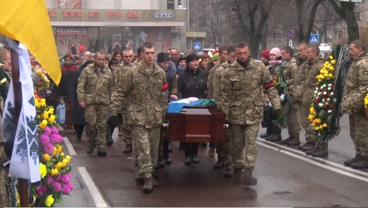 У Житомирі попрощались із загиблим в зоні АТО військовим  Максимом Перепелицею