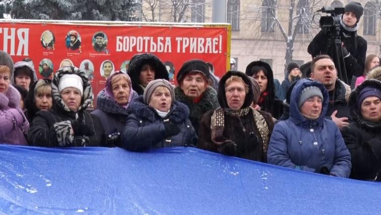Кількасот житомирян утворили ланцюг єдності до сторіччя проголошення Української Народної республіки