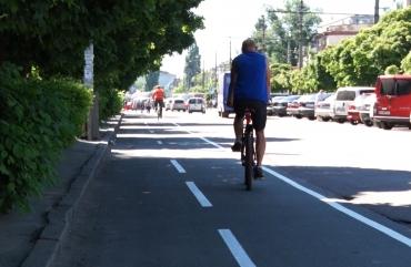 200-метрову велосмугу облаштували в Житомирі