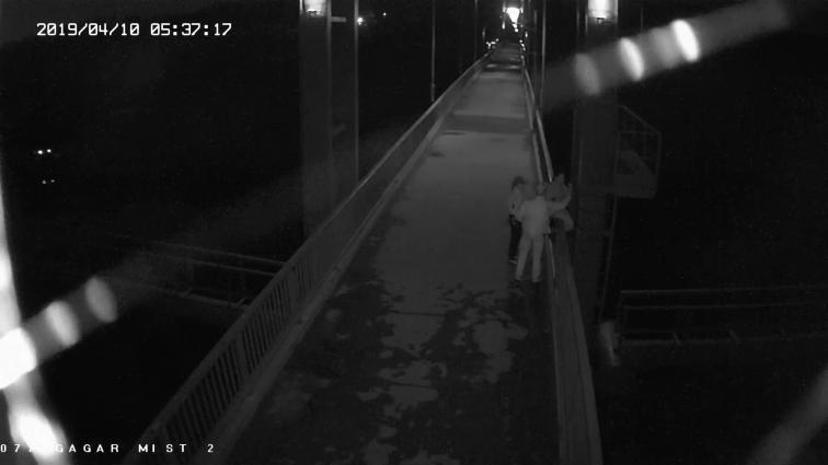 В Житомирі зняли жінку з перил пішохідного мосту