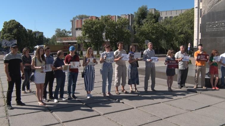 Акція на підтримку Олега Сенцова відбулася в Житомирі