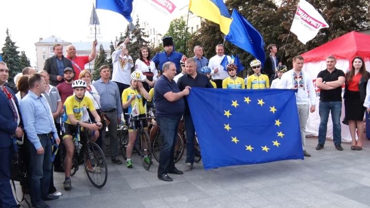 Євромарафон, організований «Солідарністю» з нагоди отримання безвізу, дістався Житомирщині
