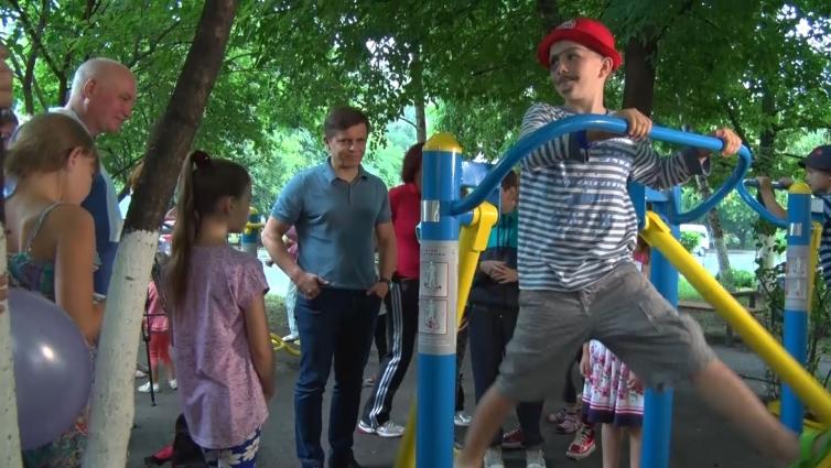 У Житомирі відкрили спортмайданчик «Острівки здоров'я для всіх»