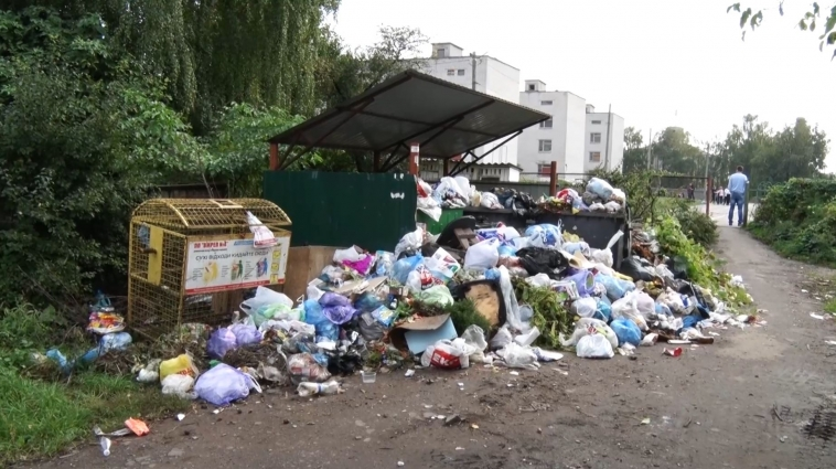 Житомиряни вкотре скаржаться на те, що сміття не вивозять вчасно