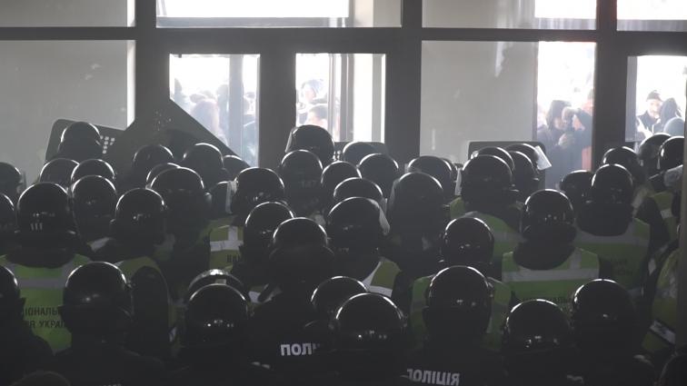 У Житомирській ОДА під час сесії сталися сутички