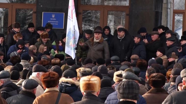 Військові пенсіонери мітингували в Житомирі